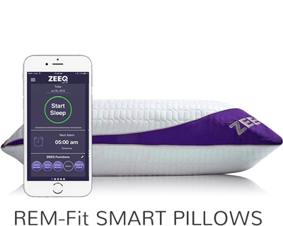 REM-Fit Smart Hybrid Pillows including the ZEEQ Pillow